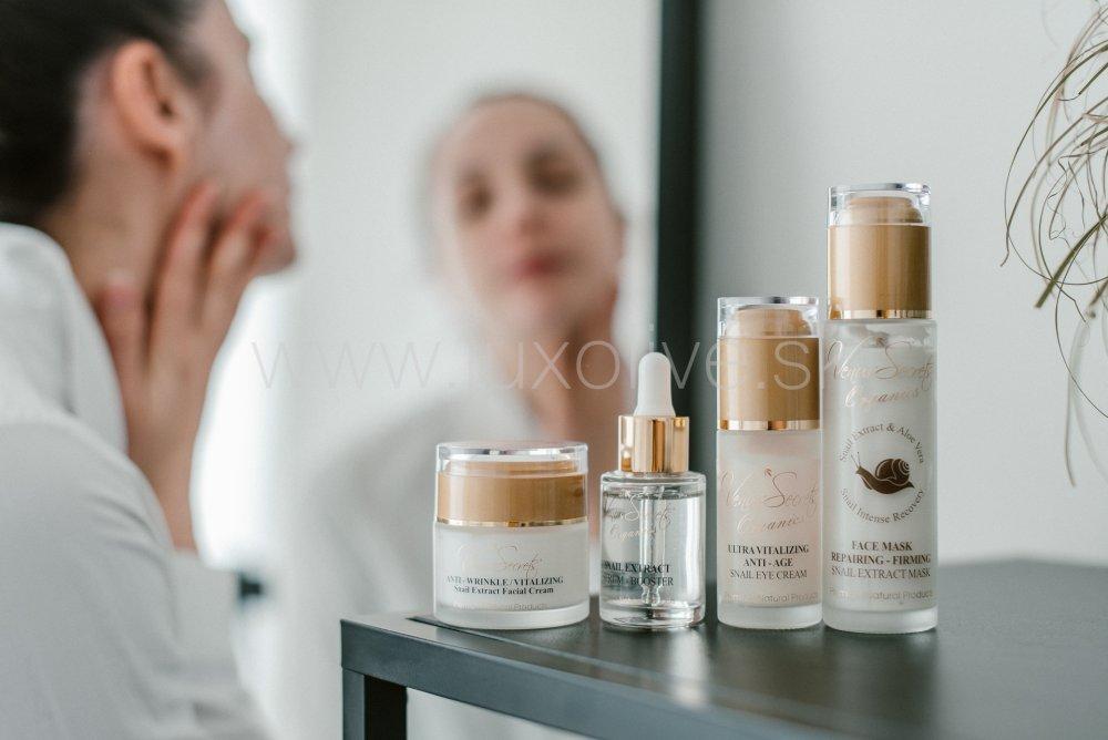 Pleťová kozmetika zo slimačieho slizu